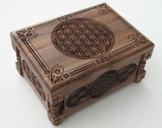 Flower of Life - Small Jewelry Box, Gift  Box, Handcrafted, Customized