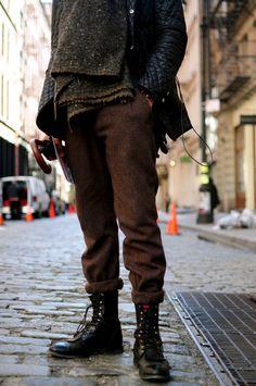 Street Style Boots #menswear