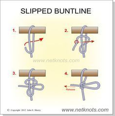 Slipped Buntline - A quick release knot