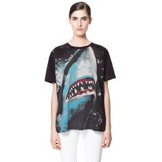 Zara Shark T-Shirt ($36) via Polyvore