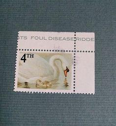 Stot21stcplanb aka not Banksy Suicide Swans, bird flu HPAI ltd Edt Stamp gummed
