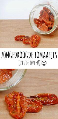 Zongedroogde tomaatjes maken