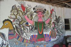 Wallpainting Art in Madhubani India  Handmade