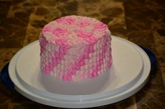 first attempt at a petal effect cake not hard to make but very time consuming.