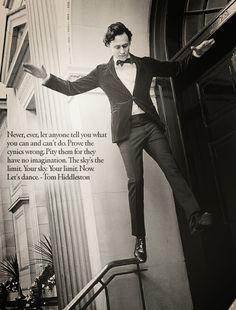 Tom Hiddleston quote. :)