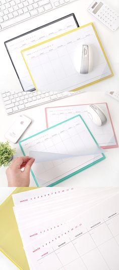 We all love multifunctional items like the Weekly Scheduler Leather Notepad here! You can create awesome plans for your next 28 weeks, store documents and prevent it from getting damaged. Also, the PVC cover of the notepad allows you to use this notepad as your mousepad!