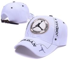 4189c428d4018d Men s   Women s Air Jordan The Jumpman Logo Circle Patch Embroidery Leather  Strap Back Baseball Adjustable Hat - White