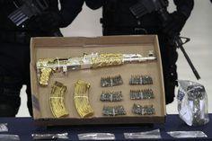 Drug King Pin 14K Gold AK47