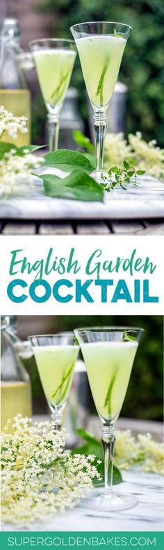 The English Garden | A sophisticated and elegant gin-based cocktail | Supergolden Bakes