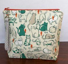 Knit Project Bag, Project Bag, Sock Knitting, Sock Project Bag, Knitting Bag, Small Project Bag, Wedge Bag, Zipper Bag, Crochet Project Bag