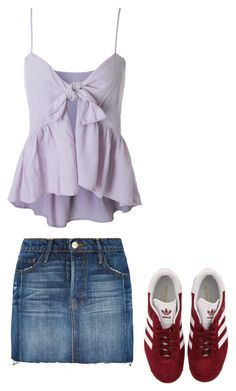 """""""When you have someone dress you..."""" by asolove ❤ liked on Polyvore featuring Frame Denim and adidas"""