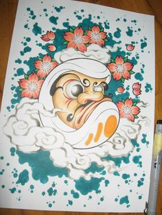 2012 cartoon daruma koji style...wip