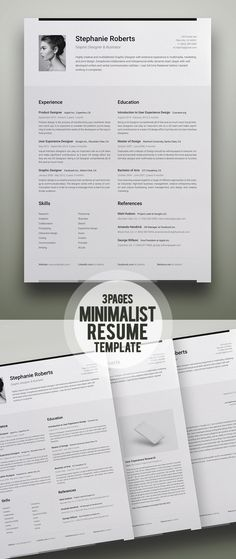 35 Best Minimal CV Resume Templates Minimalist Template Free Download Word Indesign