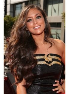 New Arrival Discount 24 inch Faddish Long Brown Female Wavy Celebrity Hairstyle