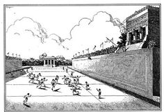 Chapter 2 - The Mayan Ball Game: A Deadly Sport - Simple explanation for kids in English about the sport played in ball courts like the one found at Ek'Balam