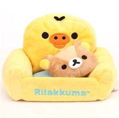 Rilakkuma armchair plush cellphone holder / plush holder