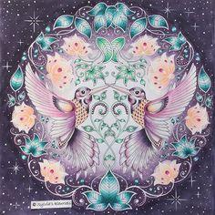 My hummingbirds are ready ! Hope you'll like them ☺️you can swipe for the whole process #johannabasford #secretgardencoloringbook #secretgarden #mijngeheimetuin #prismacolorpremier #panpastel #posca #sylvias_kleursels #kleurenvoorvolwassenen #coloringforadults
