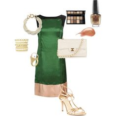 Green, Gold and Pearls, created by teresa-nottingham-jackson.polyvore.com