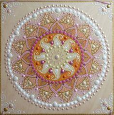 rózsaszín-fehér Napmandala / pink-white Sunmandala ( 30cm x 30cm)