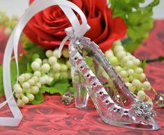 Glass Slipper Necklace / Cinderella Wedding by FavorsBoutique