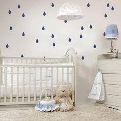 Raindrops Mini-Pack Wall Decals on wall!!