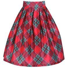 Marnie Red Tartan Full Circle Skirt | Vintage Style Skirts - Lindy Bop