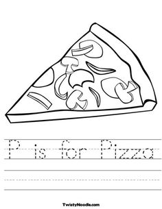 P is for Pizza Worksheet from TwistyNoodle.com