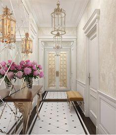 Hallway interior design visualisations, hall design projects, hallway design from Olga's Studio Classic Interior, Luxury Interior, Modern Interior Design, Interior And Exterior, Kitchen Interior, Bedroom Classic, French Interior, Design Hall, Flur Design