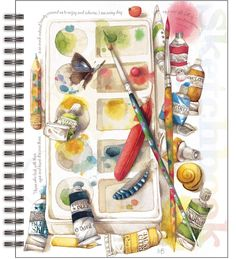 Painterly Spiral Bound Sketchbook , 4006030 | Lang