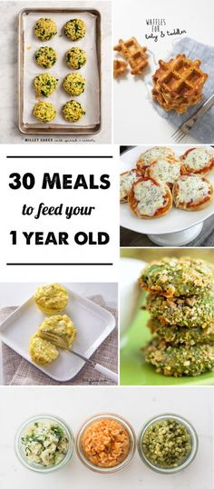 30 Meals to for 1-year-olds: I have such a hard time coming up with new meal ideas for my young toddler- love this list!!