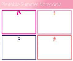 printable summer notecards Printable Summer Notecards