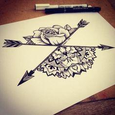 Tattoo cross arrow
