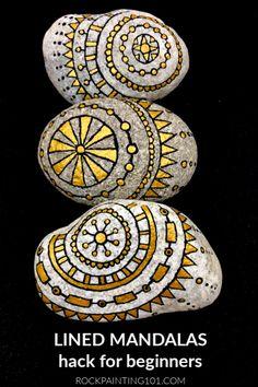 Mandala art - Rock painting tutorial - Simple mandala - Stone painting - Stone art - Painted r , Mandala Art, Mandala Meditation, Design Mandala, Mandala Rocks, Mandala Painting, Dot Painting, Stone Painting, Easy Mandala Drawing, Mandala Painted Rocks
