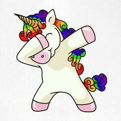 Unicorn Dabbing Einhorn T-Shirt - Teddy - New Ideas Unicorn Art, Magical Unicorn, Cute Unicorn, Rainbow Unicorn, Unicorn T Shirt, Unicornios Wallpaper, Unicorn Pictures, Unicorn Birthday, Cute Drawings