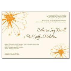 Wildflower Invitation - Unique Wedding Invitation by The Green Kangaroo