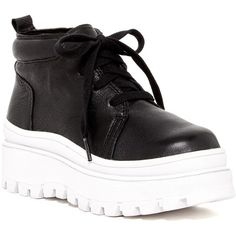 Jeffrey Campbell Desert Flatform Hi Top Sneaker (7405 ALL) ❤ liked on Polyvore featuring shoes, sneakers, blk pbl, flatform shoes, jeffrey campbell flatforms, jeffrey campbell sneakers, laced sneakers and round cap