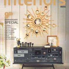 The iconic Mondrian sideboard and Apollo mirror on the cover of @cwinteriorsmagazine #bocadolobo #passioniseverything #luxuryfurniture #design #furniture #exclusivedesign #behindthescenes #artsandcrafts #bespoke #craftsmanship #creativedesign #details