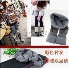Wholesale Thickening colour double-layer bamboo carbon fiber warm Leggings, $5.59-6.36/Piece | DHgate