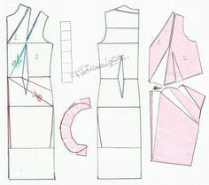 TRANSFORMAÇÃO DE VESTIDOS _13 ~ Moldes Moda por Medida-разработка на бел фустан модел 13 стр.2