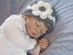 Baby Girl Crochet Hat Newborn Crochet Hat by crochethatsbyjoyce, $14.00