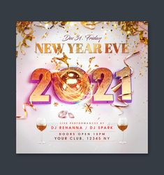 New Year Flyer Template PSD