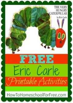 FUN and FREE Ericl Carle printable activity sheets!