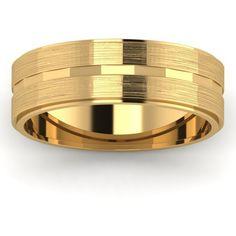 Yellow Gold Men's Wedding Band Wedding Men, Gold Wedding, Wedding Jewelry, Wedding Bands, Wedding Ideas, Bijoux Louis Vuitton, Groom Ring, Golden Ring, Wedding Ring Designs