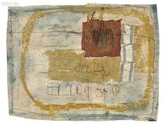 Hannelore Baron (1926-1987) Untitled, 1986. Mixed-media collage. 17.4cm H x 22.2cm W.