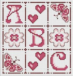 Cross-stitch alphabet