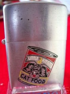 VINTAGE 1937 ZIPPO VERY RARE 3 LITTLE KITTENS CAT FOOD (04/29/2008)
