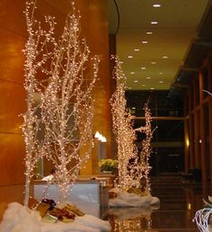 You can create incredible iced branch displays for weddings, receptions, windows and home decorating by using branches, Colorfill vase filler diamonds and Aleene's Tacky Glue. Add lights if you want. They will twinkle in the candlelight. For Xtreme twinkle use German glass glitter also.