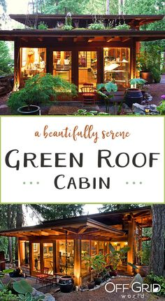 Cabins And Cottages: A beautiful little cabin with lots of windows and . Tiny House Cabin, Tiny House Living, Cabin Homes, Off Grid Tiny House, Lots Of Windows, Modern Windows, Little Cabin, Little Houses, Small Houses