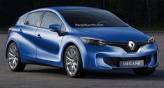 Next-Gen Renault Mégane Rendered with Design Cues from the EOLAB Concept - When Renault unveiled the EOLAB study at the Paris Auto Show, the official line was that it previewed a supermini for the year 2024.
