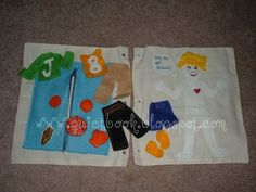 How to Make a Quiet Book: Page 4 & 5: getting dressed